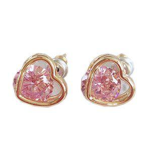 Kate Spade Colorful Zircon Heart Earrings